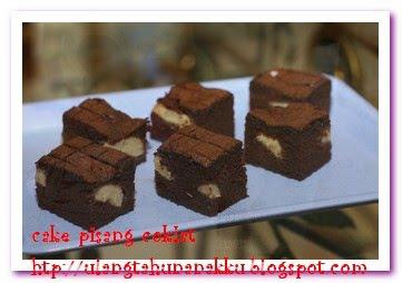 ... biasanya roti pisang coklat ini cake pisang coklat yang terlihat puith