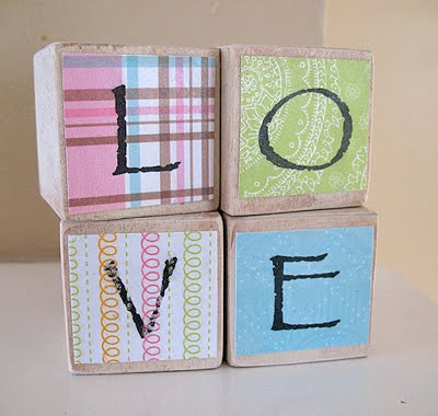 Baby Frame And Love Blocks The Perfect Diy Gift For A Baby Shower