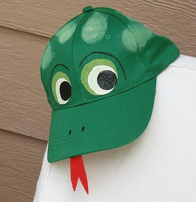 frog baseball hat crafts by amanda