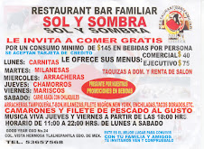 "RESTAURANTE-BAR FAMILIAR ""SOL Y SOMBA"""