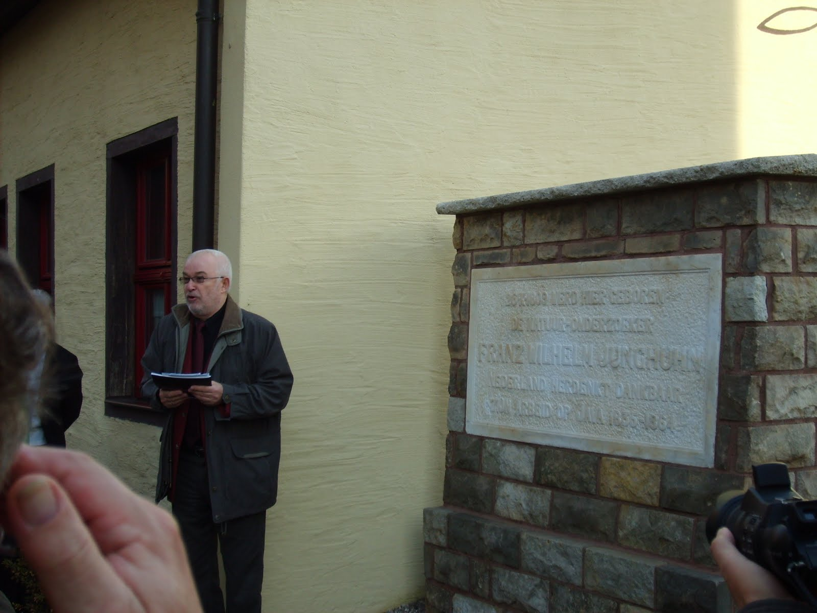 Gedenksteen Franz Wilhelm Junghuhn in Mansfeld