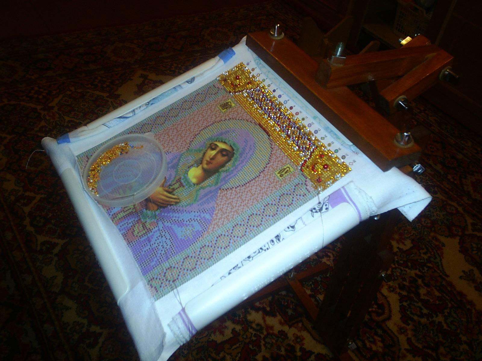 Как оформить вышивку бисером в рамку своими руками мастер класс 24