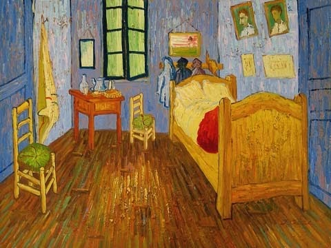 Lessons from the Art Room  One Point Perspective. The Bedroom Van Gogh Painting. Home Design Ideas