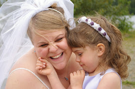 My daughter Kristina and I at my wedding