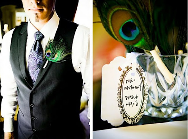 Chocolate Teal Peacock Wedding photo 3413712-2
