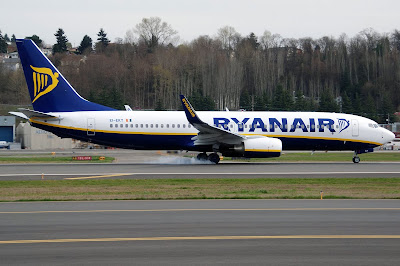 New Aircraft Deliveries  B738+EI-EKT+Ryanair+Test+Flight