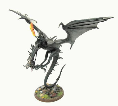 Fully painted Witch King on Fell Beast model from Games Workshop Lord of the Rings range