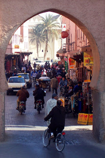 The public gate to the Kasbah district - not much rockin' going on