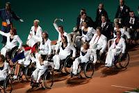 Equipe de France à la cérémonie d'ouverture