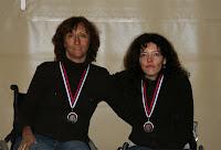 Isabelle et Stéphanie médaillées d'argent