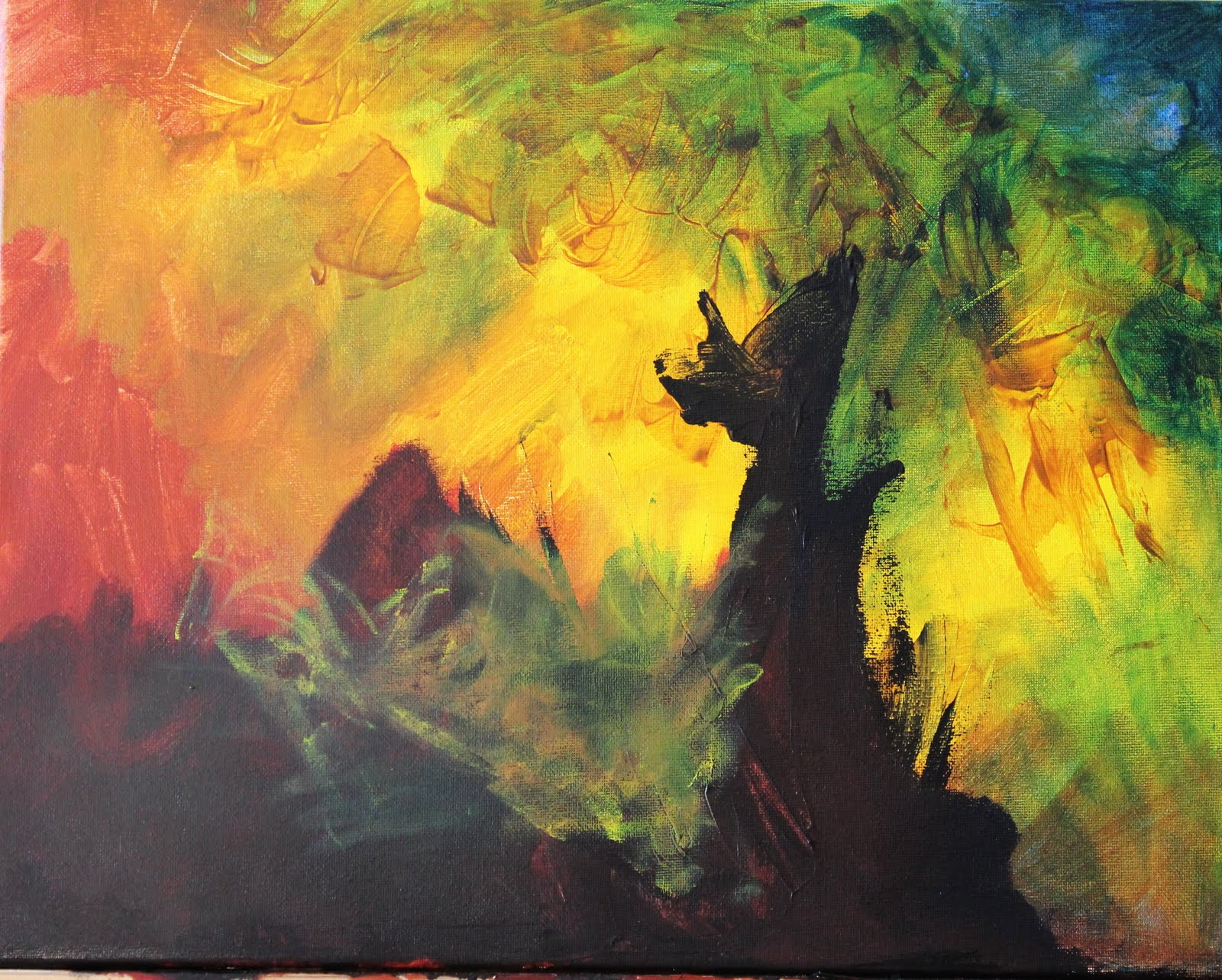Acrylic paintings abstract art pictures for Abstract mural paintings