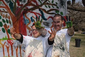 Pintamos un mural en la reserva Ecologica-2010