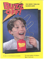 advertisement for a game called buzz off