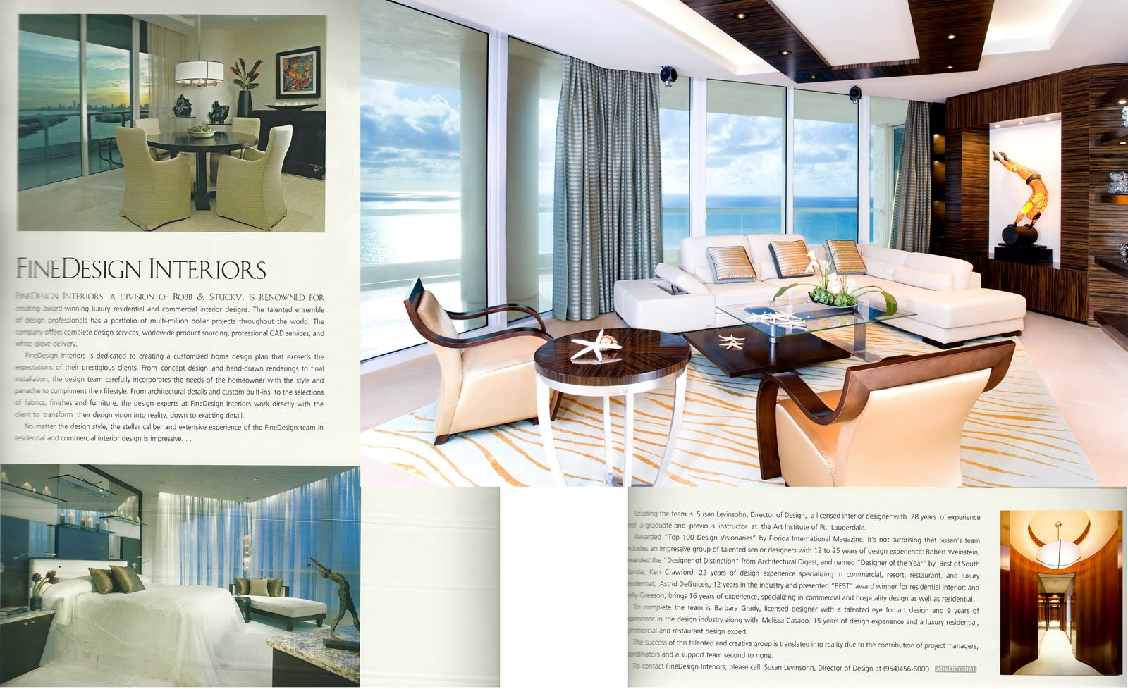 spread ad in florida design magazine |