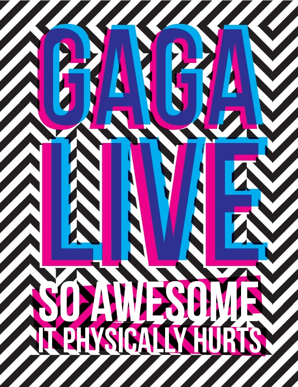 lady gaga concert poster