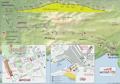 Parcours Marseille Cassis 2010