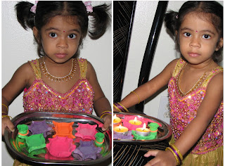Play Dough Diya lamp