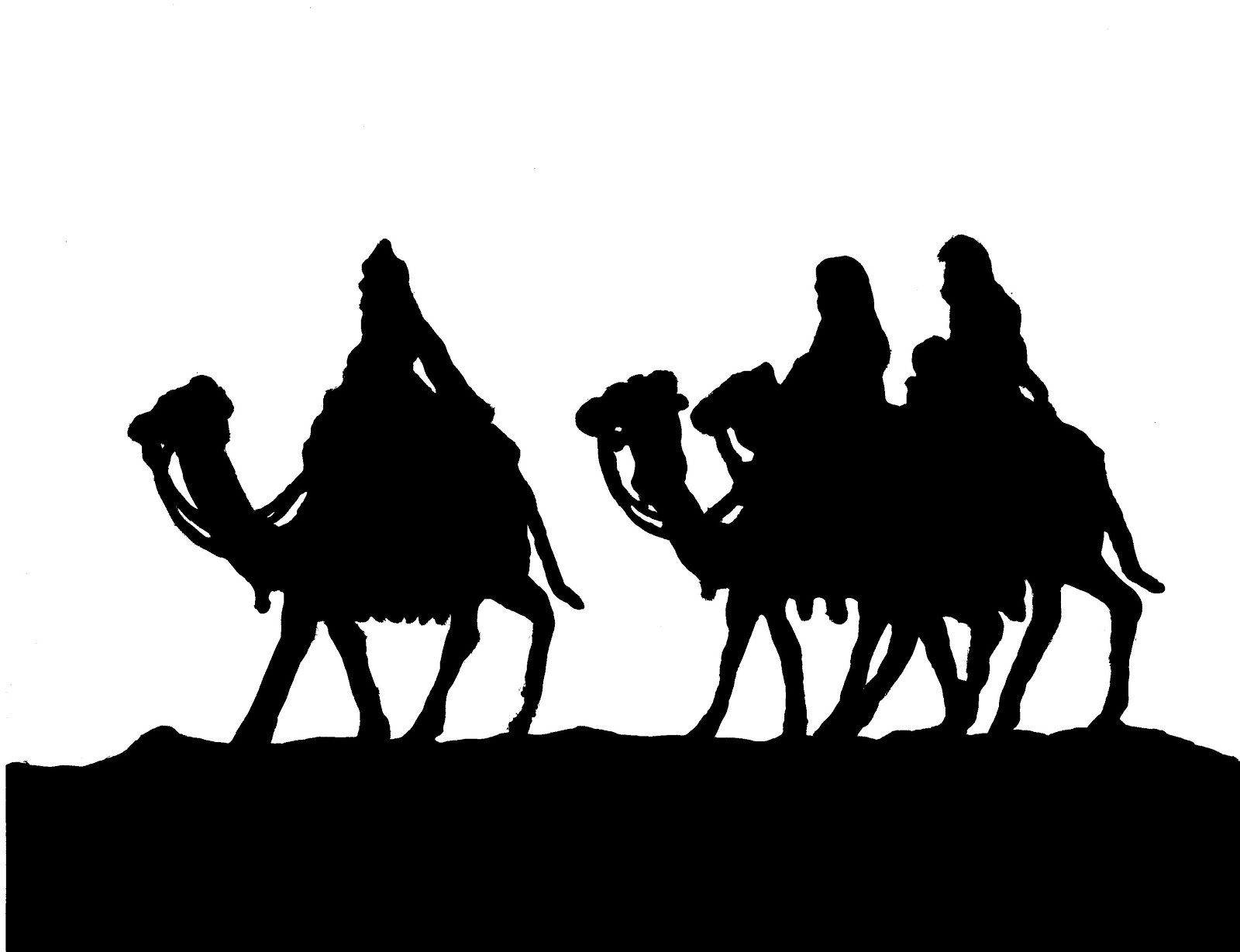 Nativity Silhouette Printable Can trace your nativity!