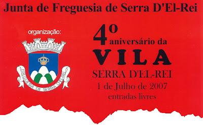 Página da Junta de Freguesia da Serra D'el Rei