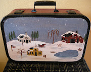 Winter Folkart Suitcase