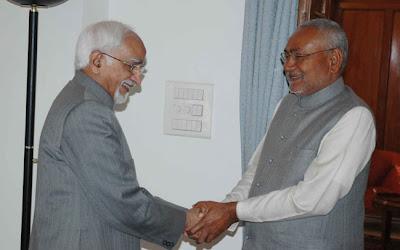 Nitish Kumar meets Vice-President Hamid Ansari