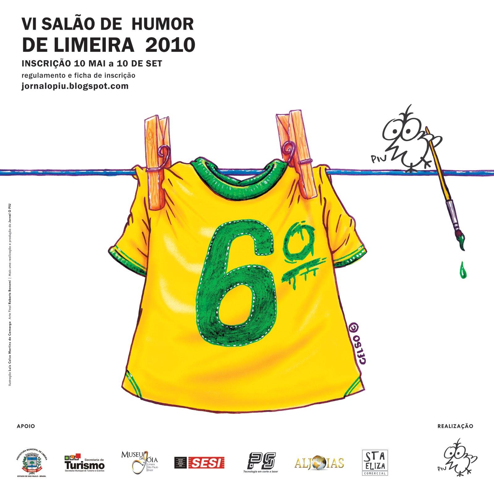 CARTAZ DO VI SALÃO DE HUMOR DE LIMEIRA