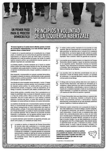 Un primer paso hacia el proceso democrático (noviembre 2009)
