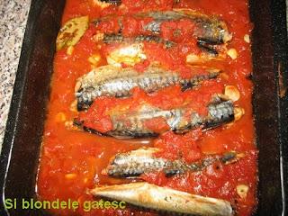 peste la cuptor in sos de tomate