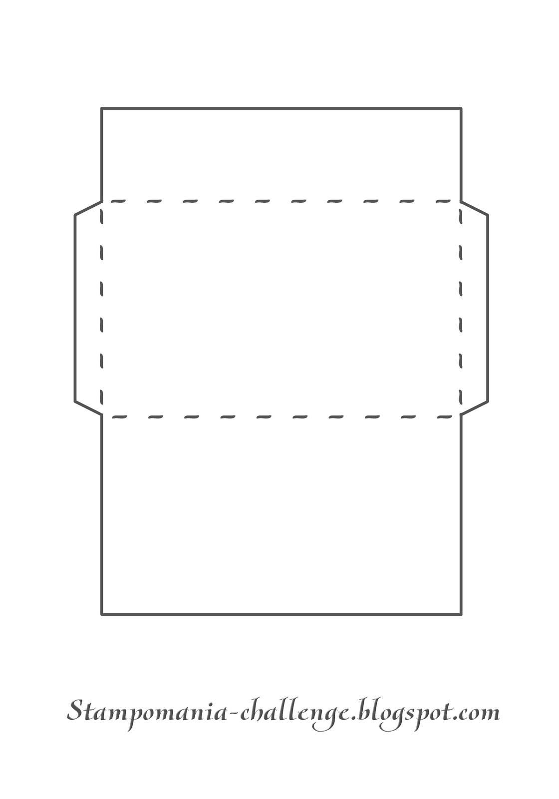 Шаблон обычный конверт из бумаги а4