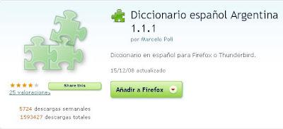 Diccionario Español para Firefox