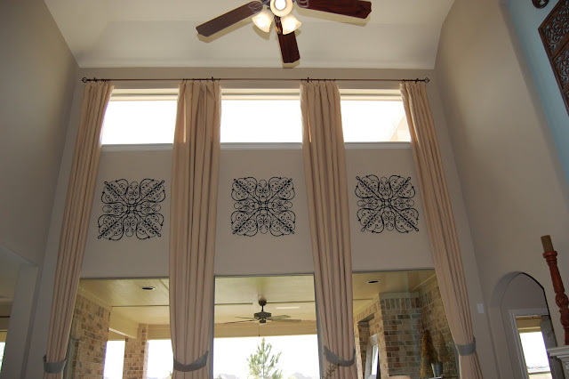 Model Homes Tall Window Treatments