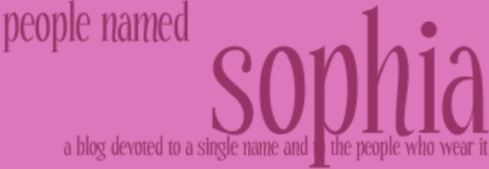 People Named Sophia