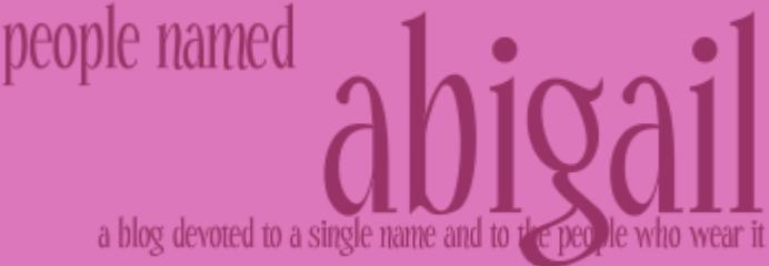 People Named Abigail