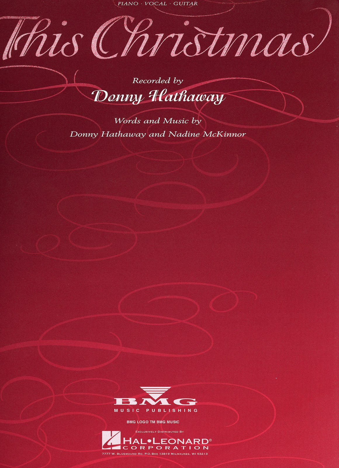 donny hathaway  this christmas  music sheet