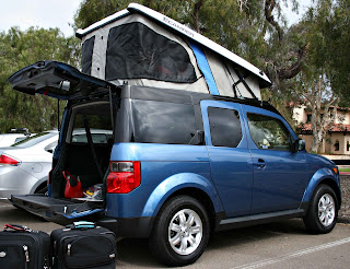 We flew down to San Diego on Friday to pick up our freshly converted Honda Element from Ursa Minor Vehicles. They had the car for the last few weeks to ... & The Darien Plan: Our new Honda Element Camper: hot or not?