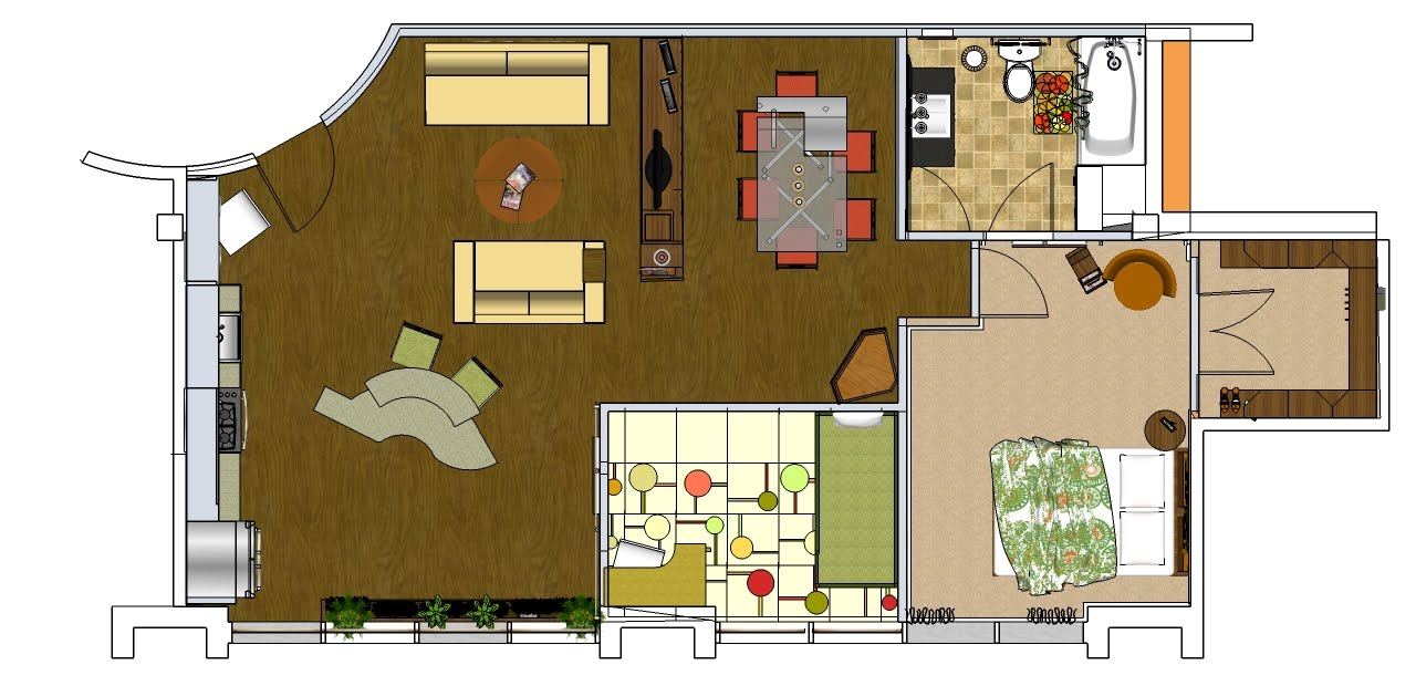 Rendered floor plans unique house plans for Rendered floor plan