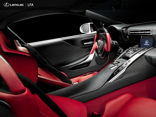 2012 Lexus LFA cabin