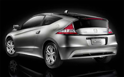 2011 Honda CR-Z silver rear view