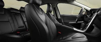 Volvo S60 black upholstery interior