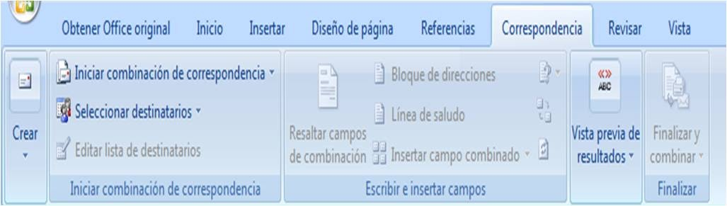 Menú Correspondencia De Word