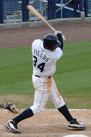 Matt Fields drove home the winning run in extra innings for the Biscuits on Tuesday night.