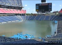 Heavy rainfalls in the Nashville area has resulted in a historic flood, devestating the region. Photo of flooding at LP Stadium courtesy of the Huffington Post.