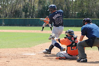 Chris Murrill was 3 for 4 with a triple and two RBI's in Monday's game.