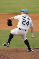 Matt Gorgen struck out the side in the ninth to secure the Biscuits win.