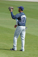 Desmond Jennings was 3 for 4 with 2 doubles, a triple, 2 RBI's and scored all three times on base.  Photo by Jim Donten.