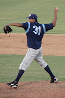 Richard De Los Santos only allowed 2 runs in seven innings during Saturday's loss.  Photo by Jim Donten.