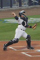 Nevin Ashley while playing for the Stone Crabs in 2009.  Photo by Jim Donten.