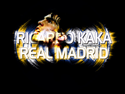 real madrid wallpaper logo. Kaka Real Madrid
