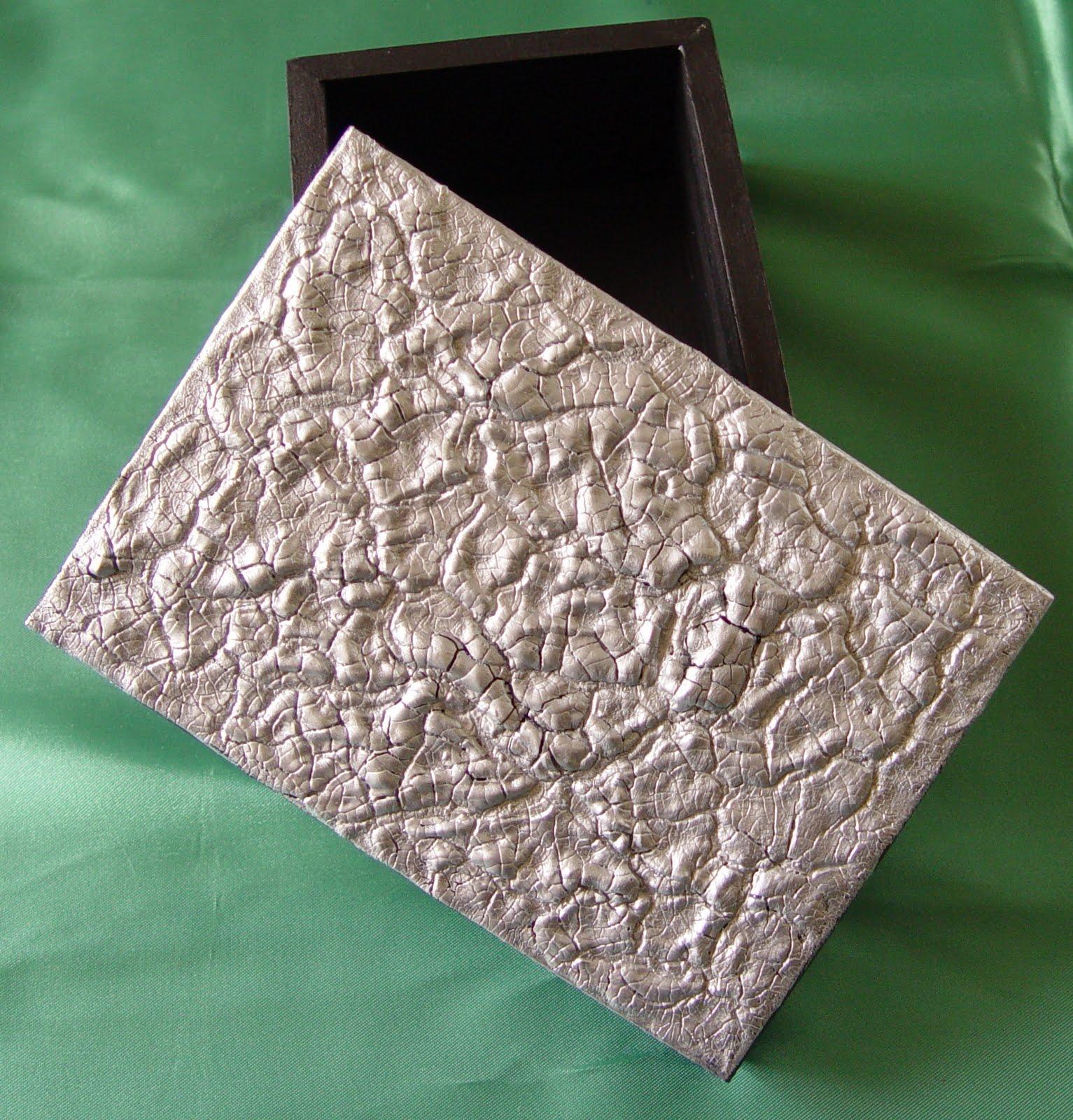Manualidades no Seixal: Caixa de madeira com tampa em falso estanho  #23311A 1533x1600