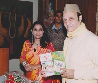 Dr Karan Singh Ji, releasing my books